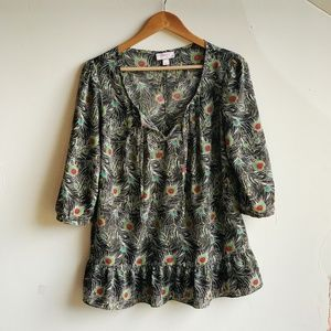 LIBERTY OF LONDON FOR TARGET peacock top size L
